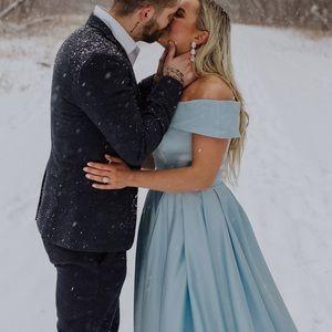 Dresses & Skirts - Baby Blue Light Blue Off Shoulder Prom Dress Gown